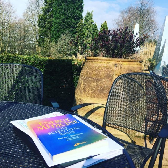 Enjoying the sun  doing research for the Mindfulness Basedhellip