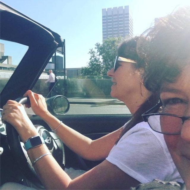 With emmacroberts driving over Waterloo bridge in London heading tohellip